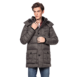 Men's Long Puffer Jacket
