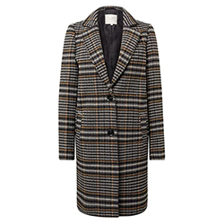 Women's Checked Coat