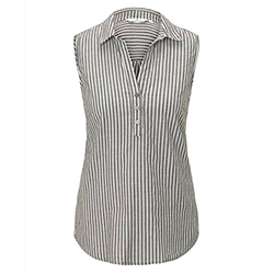 Women's Striped Sleeveles