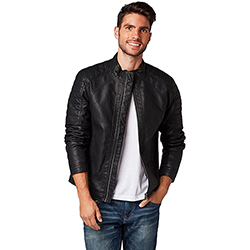 Men's Fake Leather Biker